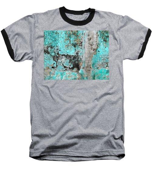 Wall Abstract 219 Baseball T-Shirt by Maria Huntley