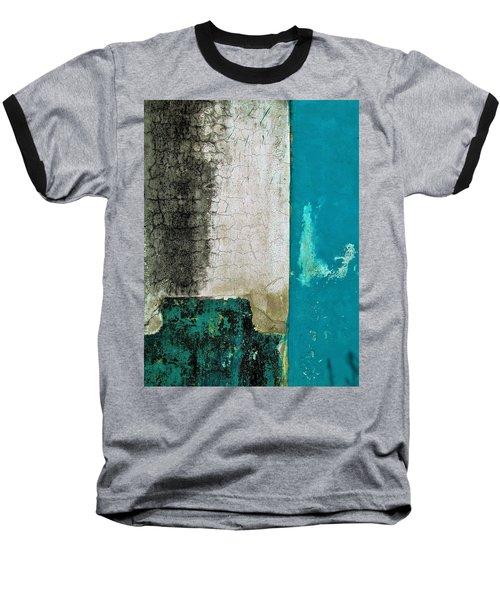 Wall Abstract 296 Baseball T-Shirt by Maria Huntley