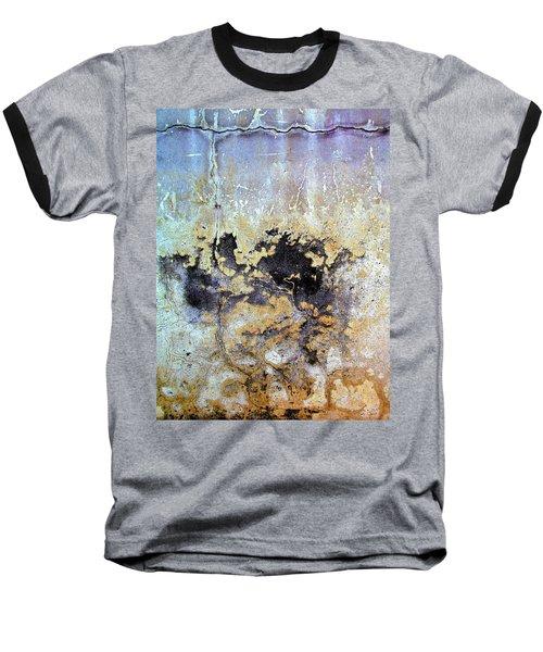 Wall Abstract 68 Baseball T-Shirt by Maria Huntley