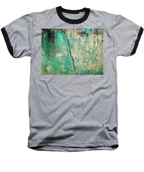 Wall Abstract 97 Baseball T-Shirt by Maria Huntley