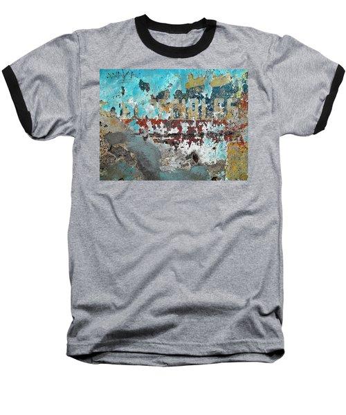 Wall Abstract 98 Baseball T-Shirt by Maria Huntley