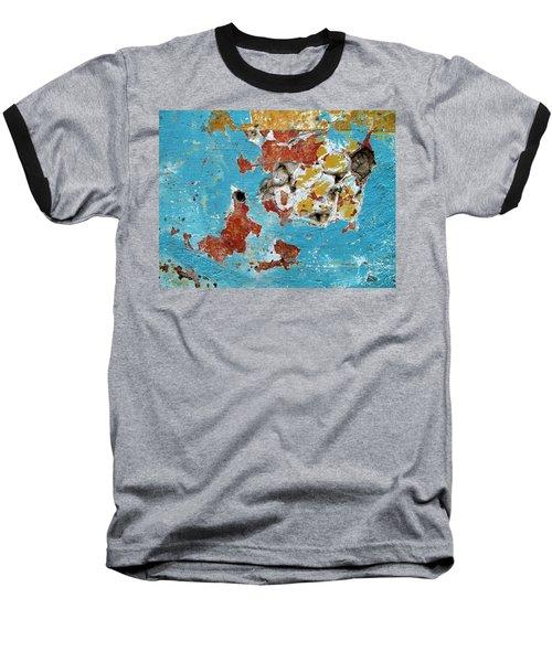 Wall Abstract 99 Baseball T-Shirt by Maria Huntley