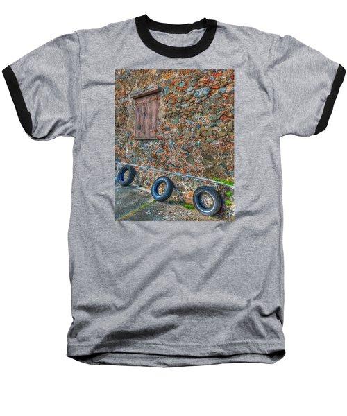 Wall Abstract Baseball T-Shirt by James Hammond
