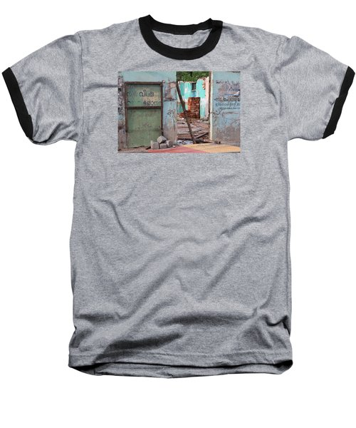 Wall, Door, Open Space In Kochi Baseball T-Shirt by Jennifer Mazzucco