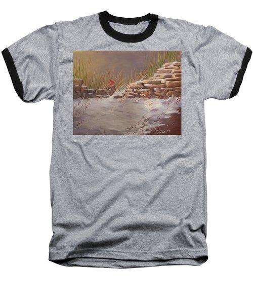 Wall In Winter Baseball T-Shirt