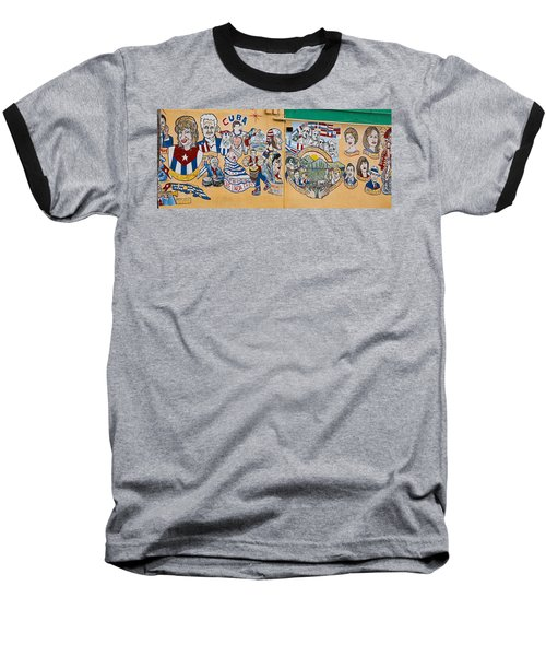 Wall Of Cuba Baseball T-Shirt