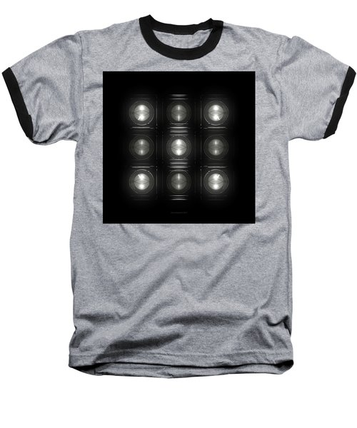 Wall Of Roundels 3x3 Baseball T-Shirt