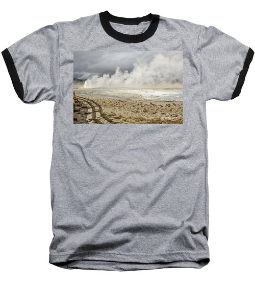 Wall Of Steam Baseball T-Shirt by Sue Smith