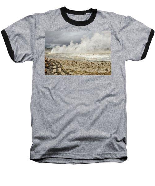 Wall Of Steam Baseball T-Shirt