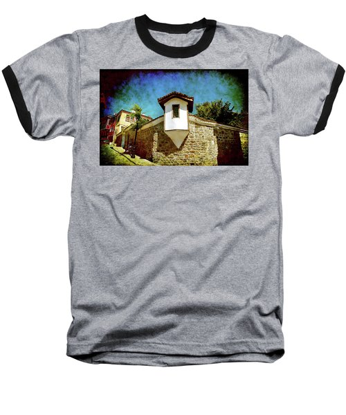 Baseball T-Shirt featuring the photograph Wall Of Stone by Milena Ilieva