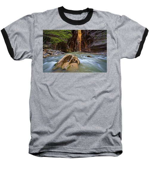 Baseball T-Shirt featuring the photograph Wall Street Of The Narrows by Wesley Aston