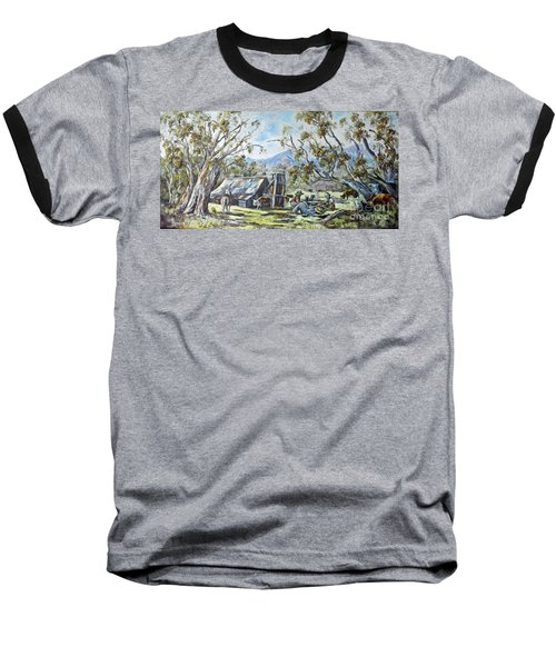 Wallace Hut, Australia's Alpine National Park. Baseball T-Shirt