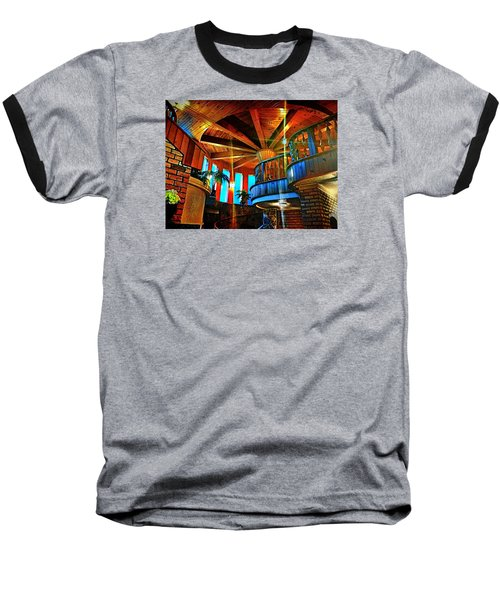 Baseball T-Shirt featuring the photograph Wallaceville House's Rustic Balcony by Kathy Kelly
