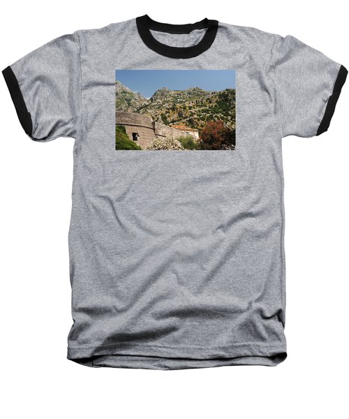 Walls Of Kotor Baseball T-Shirt by Robert Moss