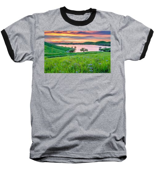 Baseball T-Shirt featuring the photograph Wally Baskets Above Contra Loma  by Marc Crumpler