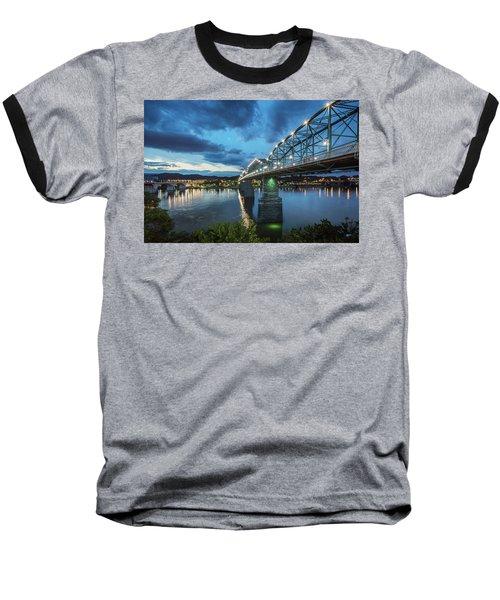 Walnut At Night Baseball T-Shirt by Steven Llorca