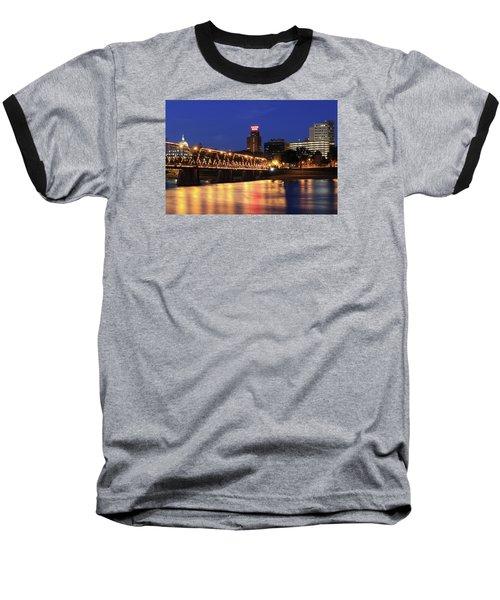 Walnut Street Bridge Baseball T-Shirt by Shelley Neff