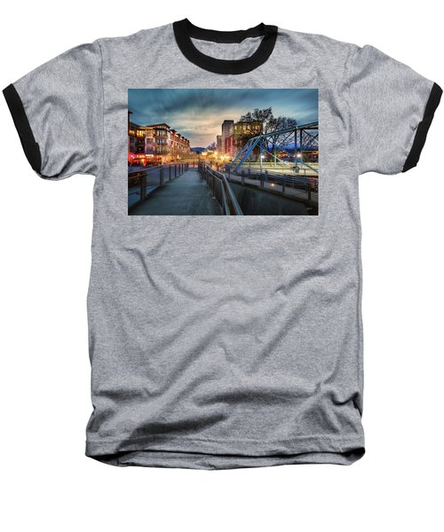 Walnut Street Circle Sunset Baseball T-Shirt
