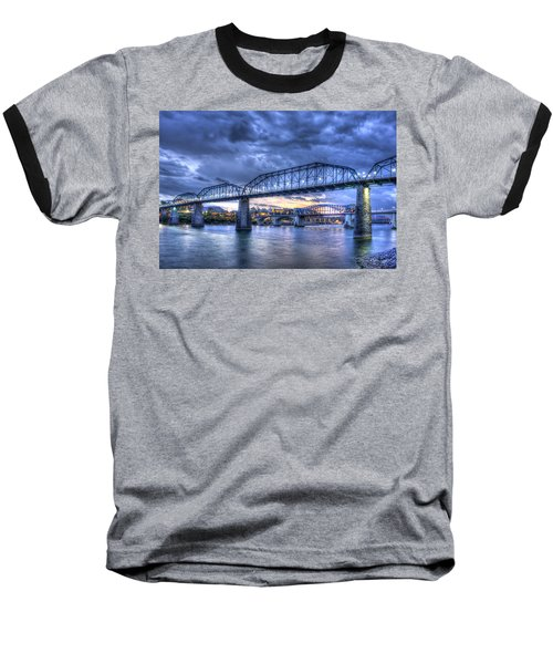 Walnut Street Pedestrian Bridge Chattanooga Tennessee Baseball T-Shirt