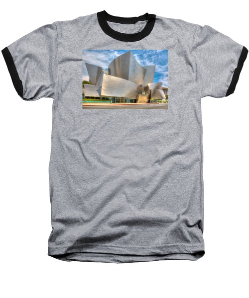 Walt Disney Concert Hall - Los Angeles Baseball T-Shirt by Jim Carrell