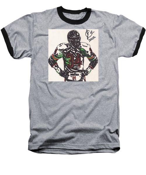 Walter Payton Baseball T-Shirt by Jeremiah Colley