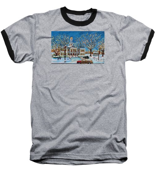 Waltham Common Shimmering Baseball T-Shirt by Rita Brown