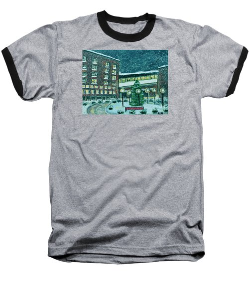 Waltham Hospital On Hope Ave Baseball T-Shirt by Rita Brown