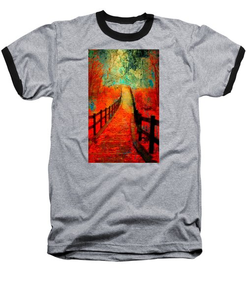 Wander Bridge Baseball T-Shirt by Greg Sharpe