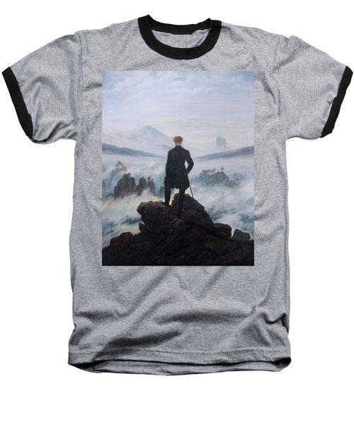 Wanderer Above The Sea Of Fog Baseball T-Shirt