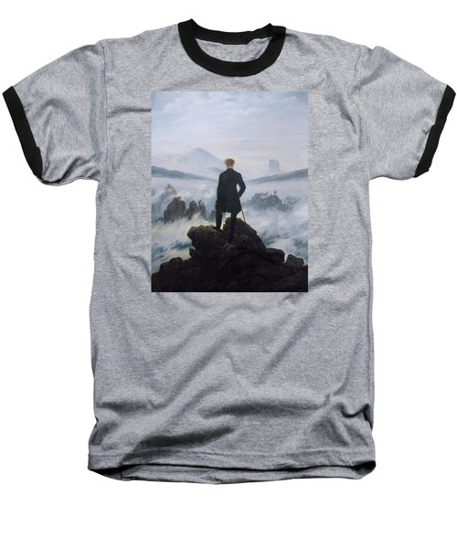 Wanderer Above The Sea Of Fog Baseball T-Shirt