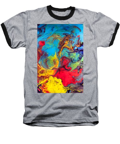 Wanderer - Abstract Colorful Mixed Media Painting Baseball T-Shirt