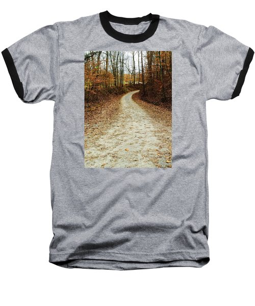 Wandering Road Baseball T-Shirt by Russell Keating
