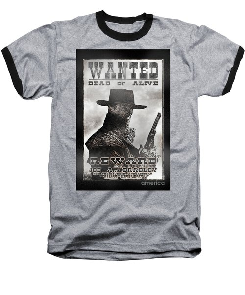 Wanted Poster Notorious Outlaw Baseball T-Shirt