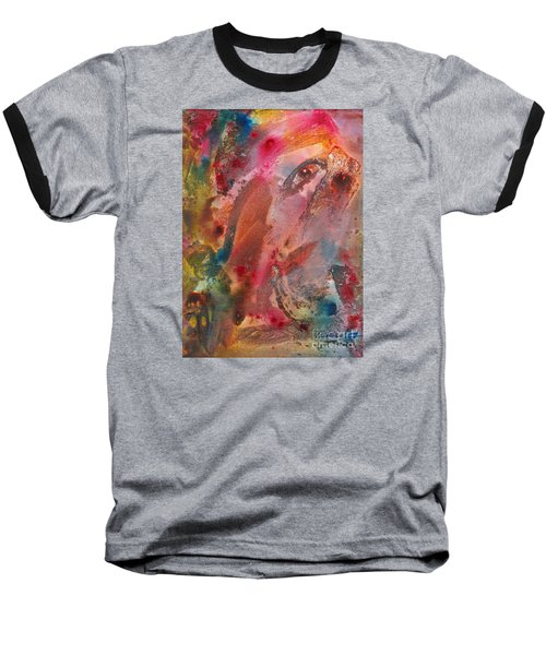 Wanting To See Or Not Baseball T-Shirt by Denise Hoag
