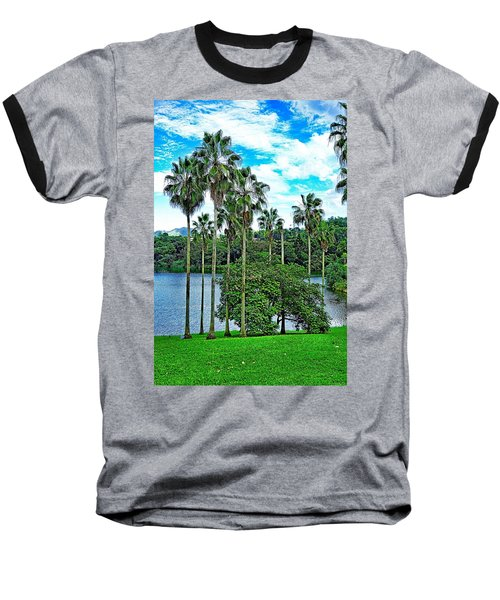 Waokele Pond Palms And Sky Baseball T-Shirt