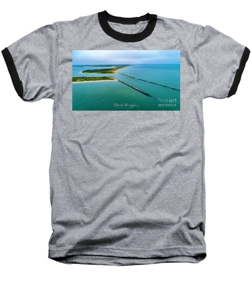 Waquiot Bay Breakwater Baseball T-Shirt