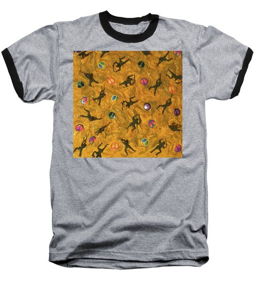 Baseball T-Shirt featuring the painting War And Peace by Thomas Blood