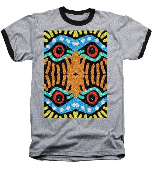War Eagle Totem Mosaic Baseball T-Shirt