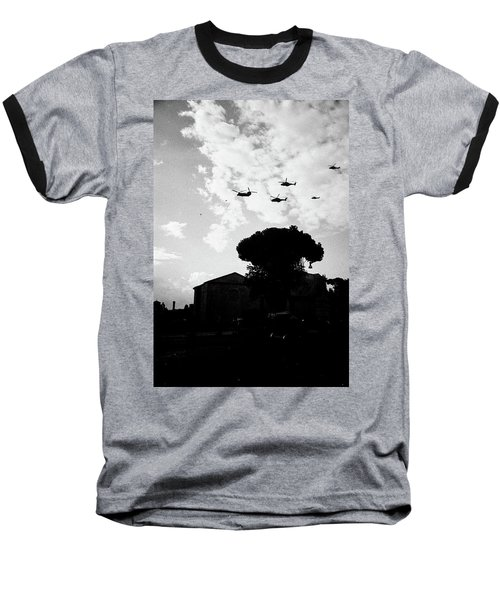 War Helicopters Over The Imperial Fora Baseball T-Shirt