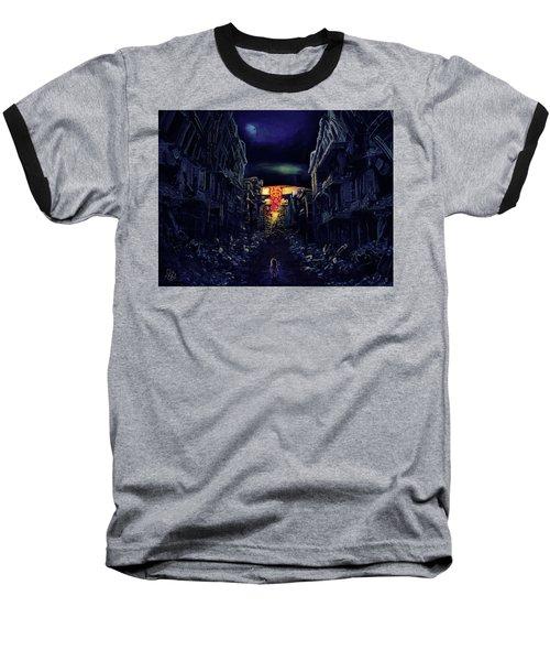 Baseball T-Shirt featuring the drawing War by Julia Art