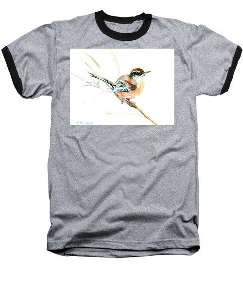 Warbler Songbird Art  Baseball T-Shirt by Suren Nersisyan