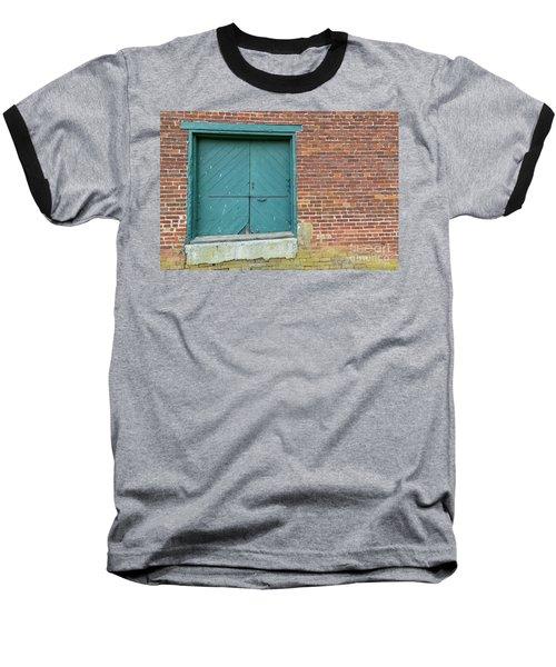 Warehouse Loading Door And Brick Wall Baseball T-Shirt