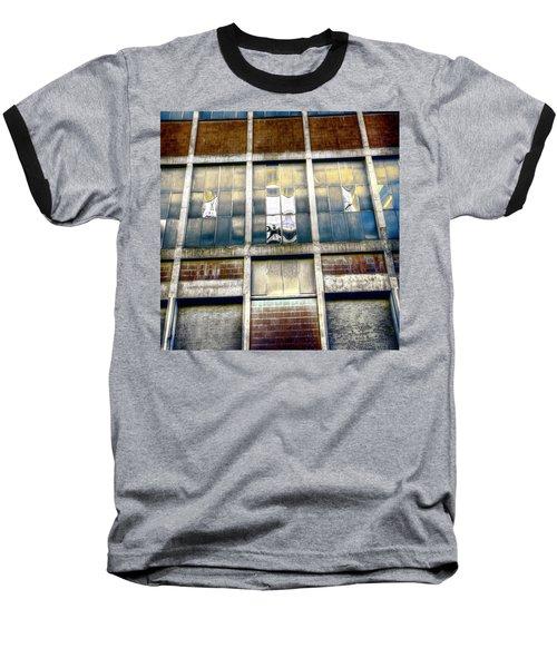 Baseball T-Shirt featuring the photograph Warehouse Wall by Wayne Sherriff