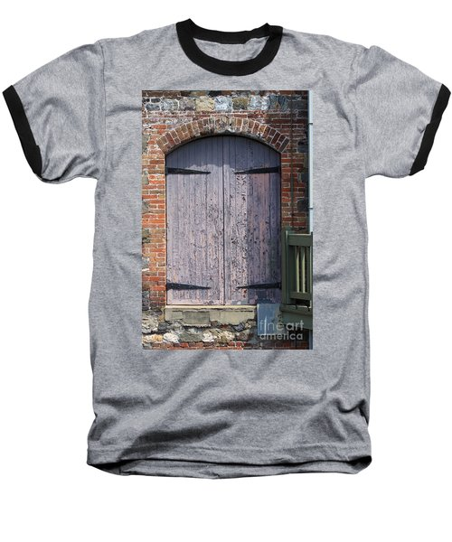Warehouse Wooden Door Baseball T-Shirt