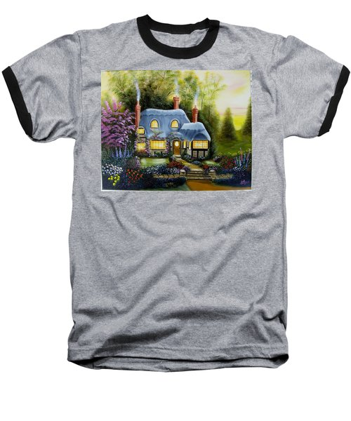 Warm And Cozy Cottage Baseball T-Shirt