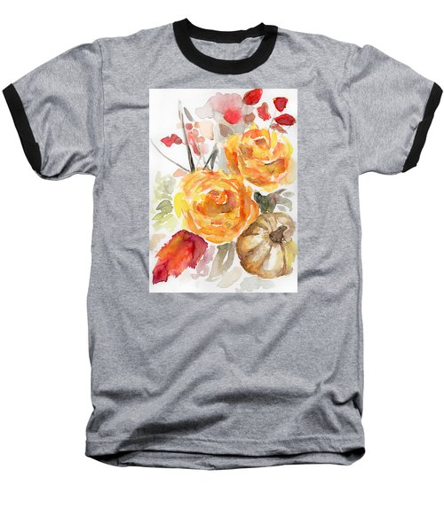 Warm Autumn Baseball T-Shirt by Arleana Holtzmann