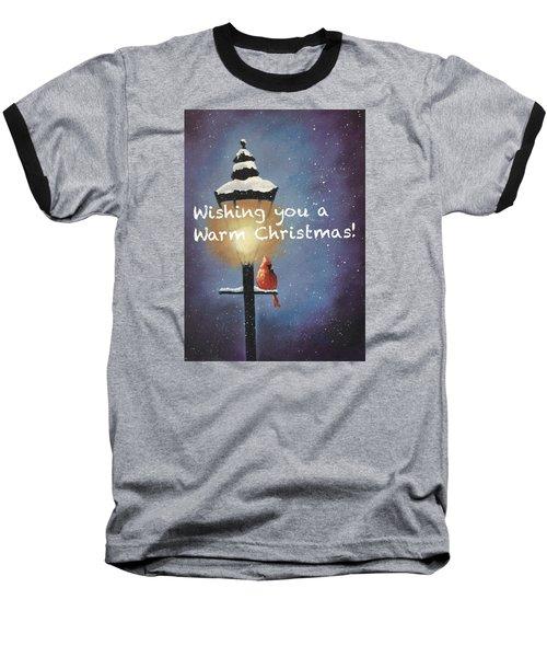 Warm Christmas Baseball T-Shirt by Sharon Mick
