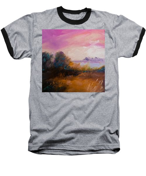 Warm Colorful Landscape Baseball T-Shirt