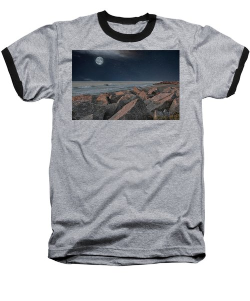 Warm Moonrise At For Fisher Baseball T-Shirt