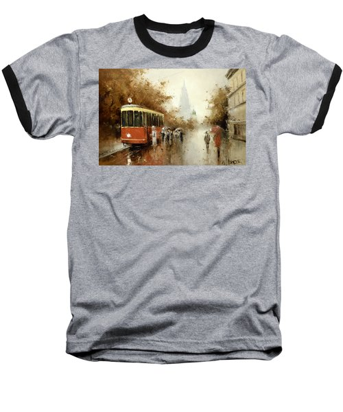 Warm Moscow Autumn Of 1953 Baseball T-Shirt by Igor Medvedev
